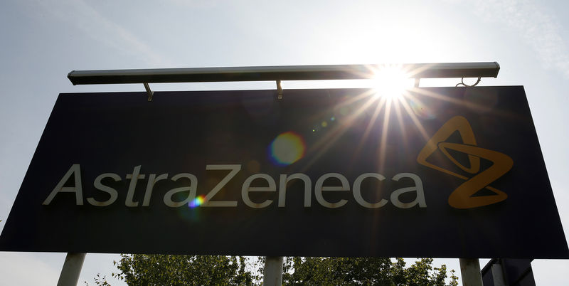 © Reuters. A sign is seen at an AstraZeneca site in Macclesfield