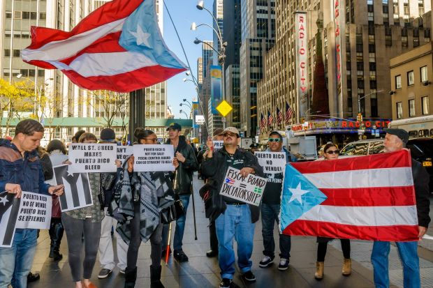 The activist group United Against Promesa in New York, Nov. 18, 2016.
