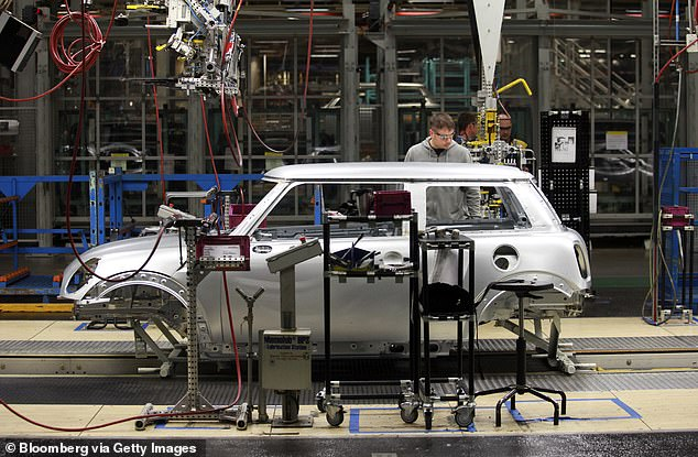 Mini's Oxford factory, which employs 4,500 people building 223,000 new cars a year - of which 80% are exported