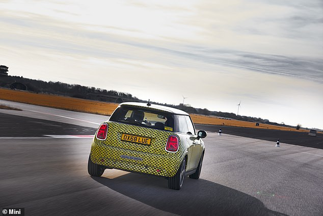 'It was whizzing silently though an assault course of cones and tight corners this the electric Mini really came into its own. It's fast, fun and fiendishly agile,' says Massey