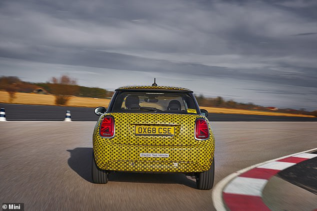 At 1.35 tonnes the electric Mini it's about 120kg heavier than the equivalent petrol Cooper S, largely because of the weight of the batteries