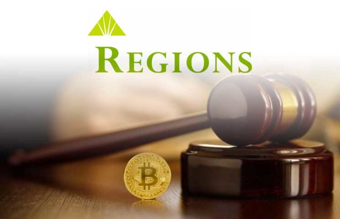 U.S. Bank Regions Financial Corporation Bans Customers from Purchasing Bitcoin