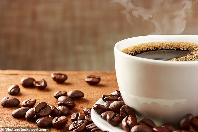 Drinking several cups of coffee (stock image) throughout the day will make you go to the toilet, actively drying you out
