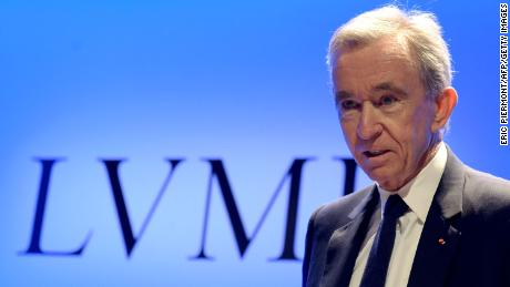 LVMH chief executive Bernard Arnault pictured in 2018.