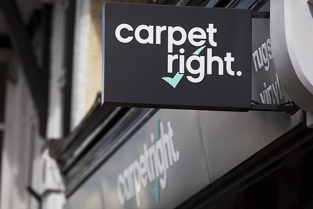 Green shoots: Carpetright said its like-for-like sales were much stronger in the last three months than during the same period last year, when sales slowed sharply