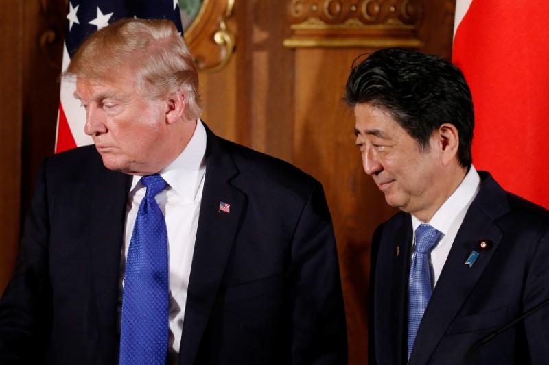 © Reuters.  Japan, U.S. Will Accelerate Talks Toward Trade Deal, Motegi Says