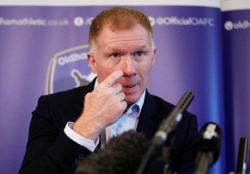 © Reuters. Oldham Athletic - Paul Scholes Press Conference