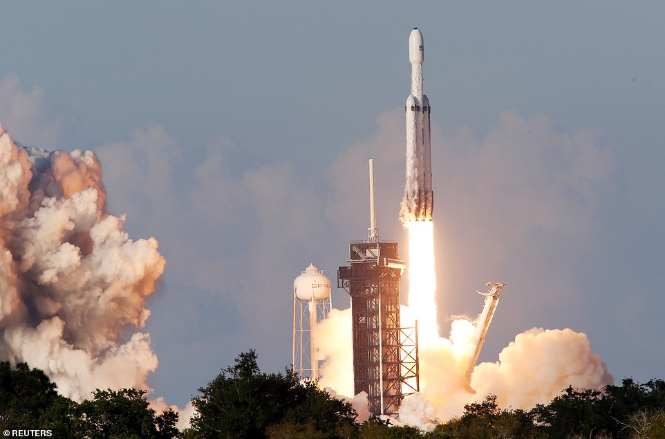 SpaceX's Falcon Heavy rocket successfully took its second flight ever on Thursday afternoon, when it lifted off from the Kennedy Space Center in Florida carrying Lockheed Martin's Arabsat 6A communications satellite