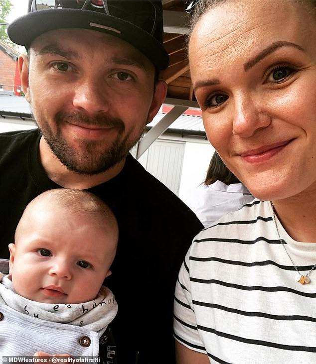 Her husband Michael (pictured), 31, was told he had to leave his wife's bedside despite pleading with midwives to allow him to stay