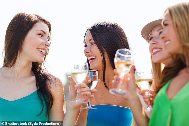 In a survey of 238 people at a breast care clinic in England, only around 20 per cent of women were aware alcohol could raise their risk of breast cancer (stock image)