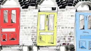 Front doors illustration