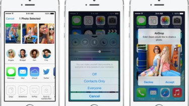 AirDrop in iOS 7.