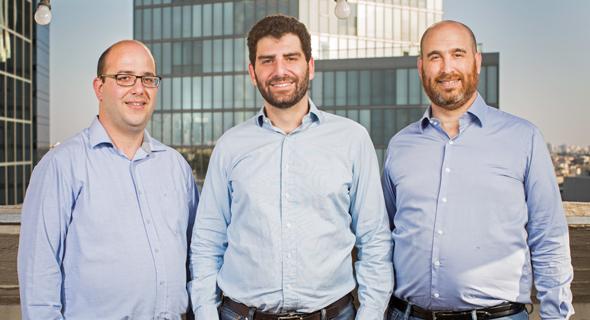 Qedit's Jonathan Rouach, Aviv Zohar, and Ruben Arnold. Photo: Ronen Goldman