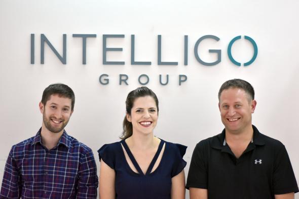 Intelligo's Dana Rakovsky, Shlomo Mirvis, and Nadav Ellinson. Photo: PR