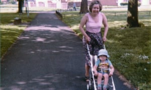 Irene with Iain Cunningham in his pushchair