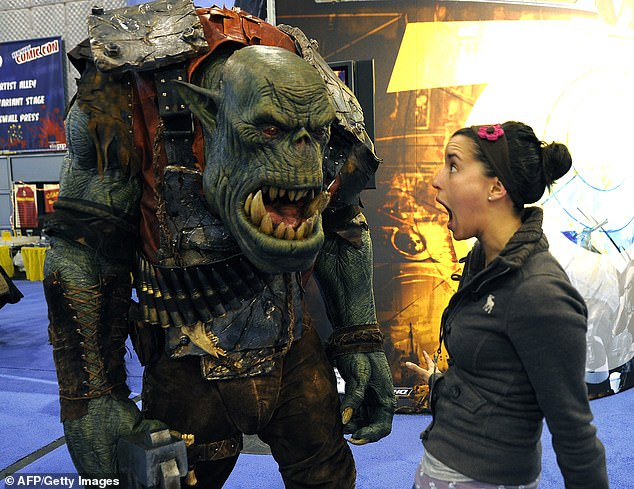 A life-size model of Ork from Warhammer at the New York Comic Convention in 2010