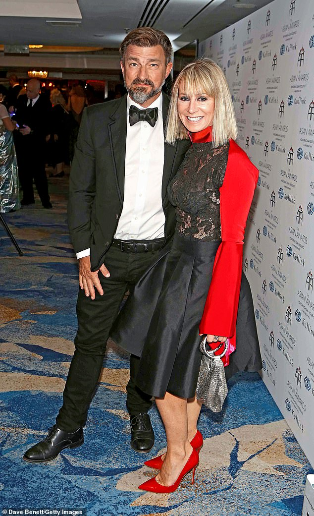 Partnership:Ben Charnaud (L) and Karen Millen attend The Asian Awards 2019 at The Grosvenor House Hotel in 2019