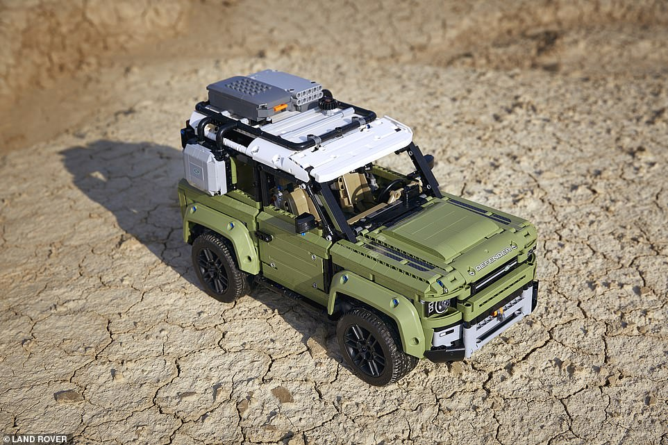 In total there are 2,573 pieces that make up the brick off-roader, which features plenty of moving parts