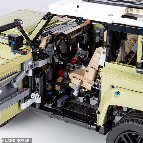 The interior has loads of moving parts