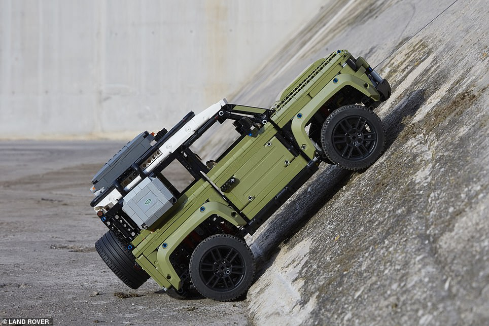 Both the real Land Rover Defender and the Lego one have been unveiled at this week's Frankfurt Motor Show