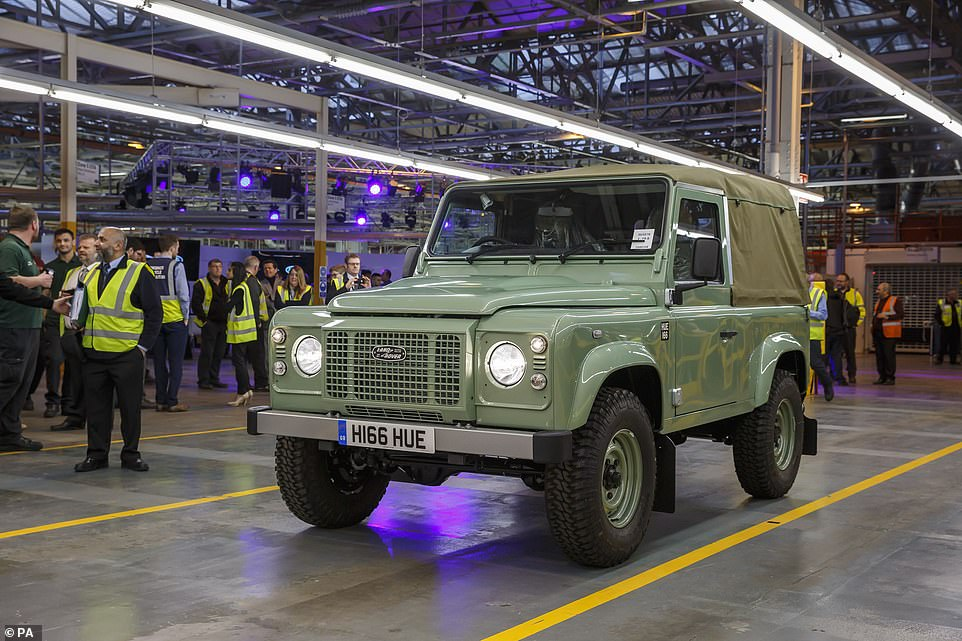 Pedigree: The final version of the previous-gen Land Rover Defender coming off the production lineat Solihull in 2016