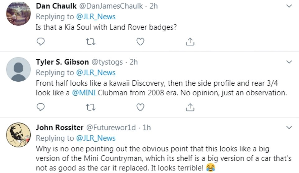 Reaction on social media this afternoon ridiculed the new Land Rover Defender, with some comparing it to cheaper cars from the Far East or to an oversized MINI Countryman, MINI's 4x4 variant