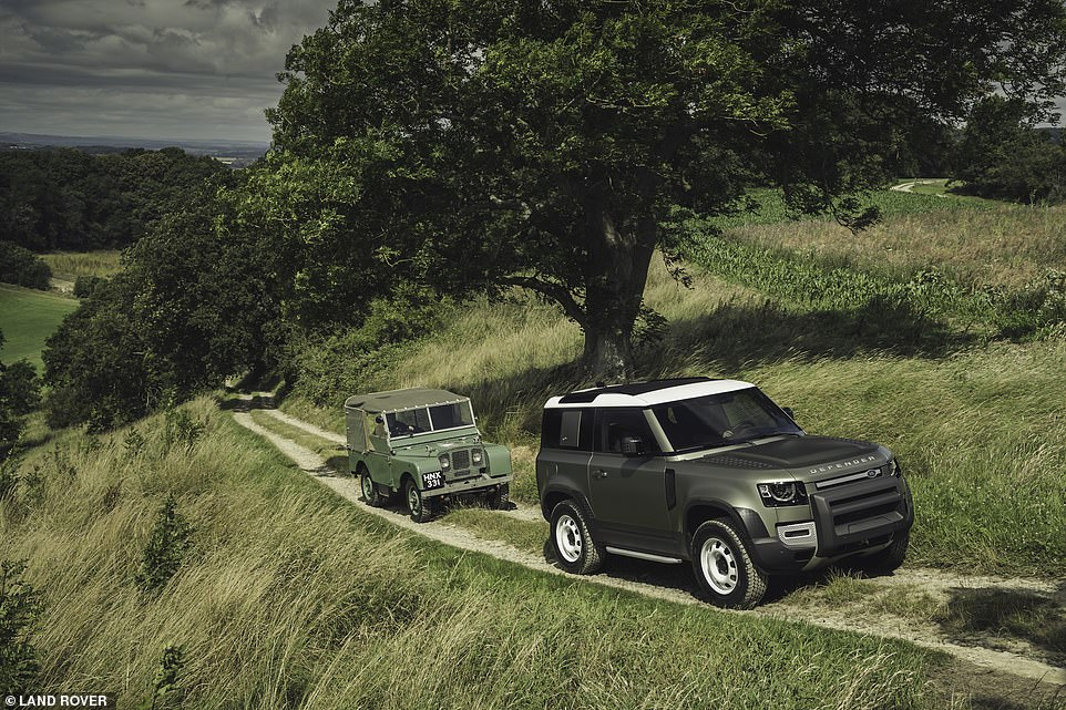 It's back! Land Rover has unveiled the all-new Defender (right) - the return of the iconic model that's ready for 21st-century living, the British brand says