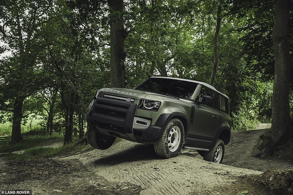 Ground clearance of up to 291mm means the new Defender can tackle steep angles easily, whether they're downhill or uphill
