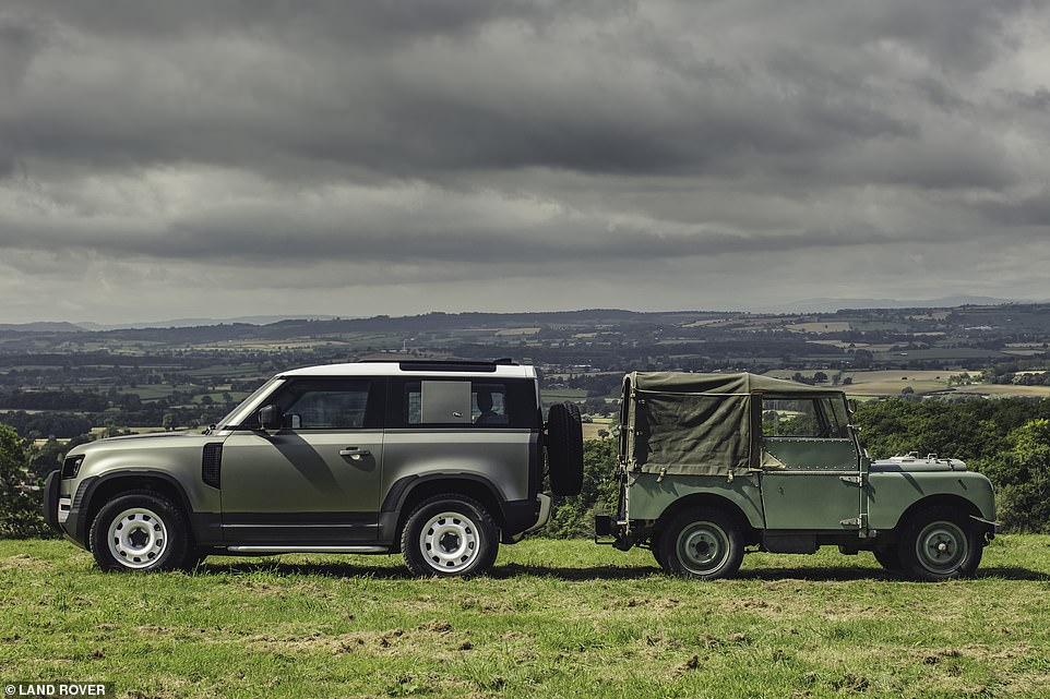 Although a brand new vehicle, the new Defender has many styling and practical cues which hark right back to the original of 71 years ago, updated for modern lifestyles, Land Rover says