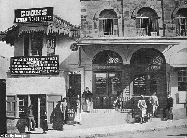 Thomas Cook's World Ticket Office in Jerusalem, offering trips to Palestine