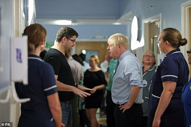 The man, whose child was being treated at Whipps Cross University Hospital in north-east London , accosted the PM to complain there were not enough doctors and nurses