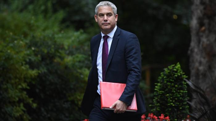 LONDON, ENGLAND - SEPTEMBER 4: Secretary of State for Exiting the European Union, Steve Barclay arrives for a cabinet meeting at Downing Street on September 4, 2019 in London, England. Last night the Rebel Alliance, including 21 Conservative MPs, won a vote that allows them to take charge of the Parliament order paper today, allowing them to debate a bill to block a no deal Brexit. The Prime Minister has withdrawn the whip from the 21 rebels and they face de-selection at the next General Election. (Photo by Leon Neal/Getty Images)