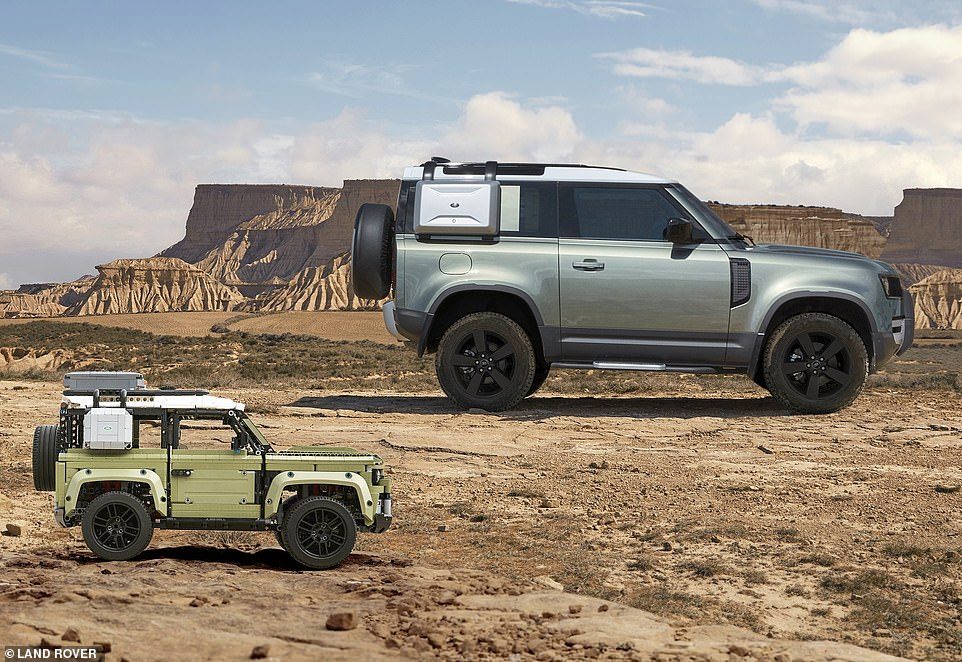 Built in Slovakia; built in your kitchen: Lego and Land Rover have teamed up to launch a new brickwork Defender that you can make at home rather than wait for one to arrive from the British brand's new £1billion factory in Nitra