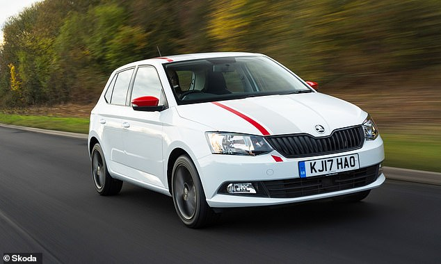 Skoda was among esteemed company picking up two category awards, one for the best used small car - the Fabia, seen here