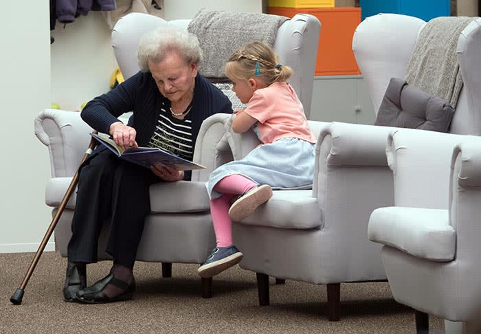 Old People's Home For 4 Year Olds: - Story time Lorna and Elsie