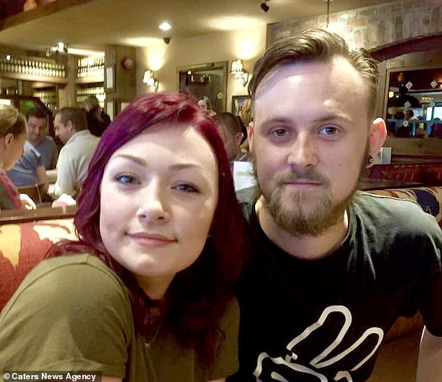 Ms Urquhart admits her menopause - which is entirely reversible - causes common symptoms such as hot flushes and memory loss (pictured with her partner Kye Eastwood)