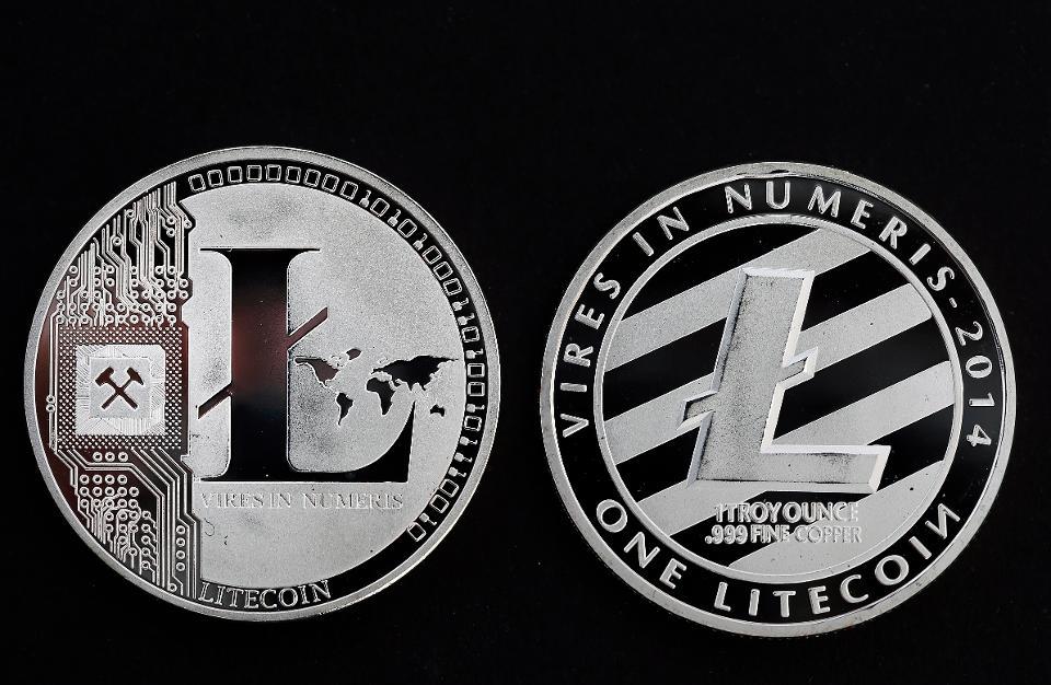 Digital Cryptocurrency Litecoin : Illustration