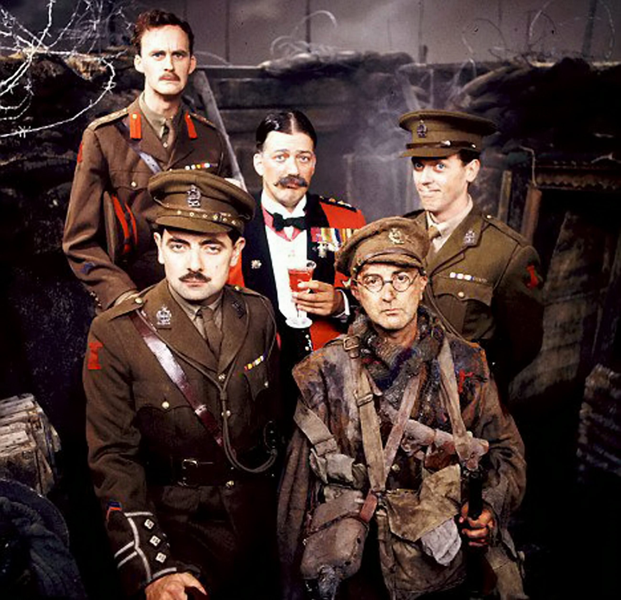 Tony Robinson played penny-pinching Baldrick in Blackadder, alongside Tim McInnerny, Stephen Fry, Hugh Laurie and Rowan Atkinson