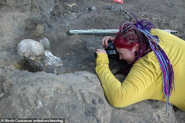 The team found that the woman had been buried with a warrior and two other males. They are not sure how they died but found they had at a similar time
