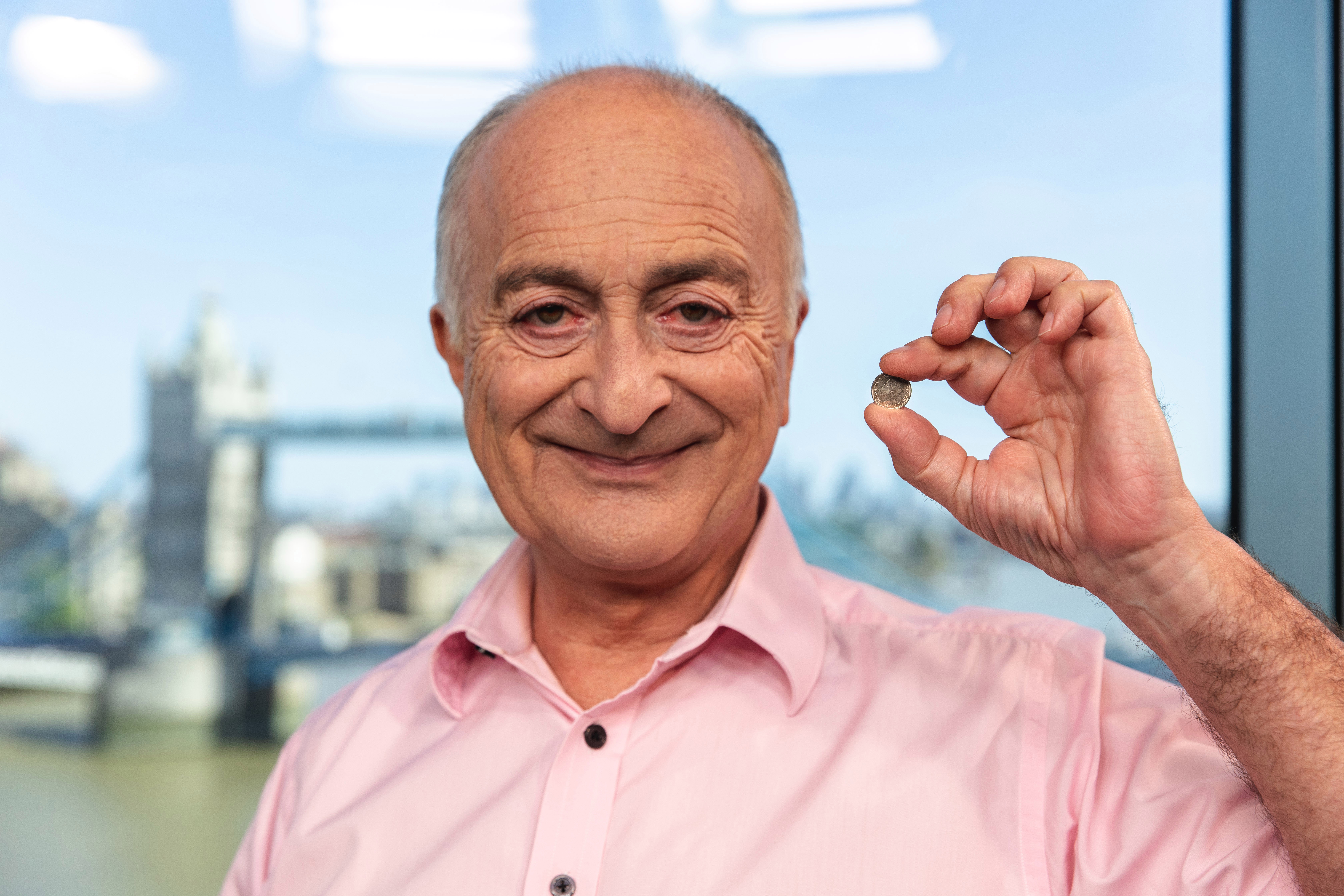 Sir Tony Robinson has teamed up with the London Mint Office to give away the coins