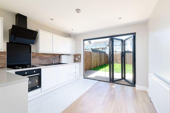 The kitchen/diner has bifold doors to the garden