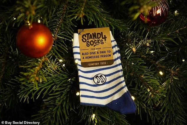 Sonar Stripe Socks from Stand4 Socks cost between £8.99 - £11.99