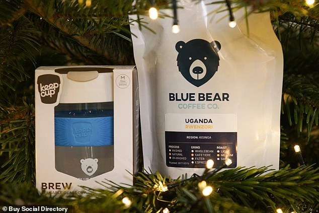 By buying a Blue Bear Keep Cup you'll be helping Blue Bear invest 100 per cent of profits into their their three beneficiary agencies investigating human trafficking and caring for it's survivors