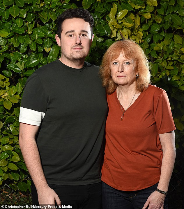 Mr Bull, who wants to raise awareness of how the symptoms of myocarditis can be mistaken for winter viruses,lives in fear that the 'excruciating' pain in his chests will return. However, 2019 marked the first year Mr Bull did not have an episode. He is pictured with his mother, Denise