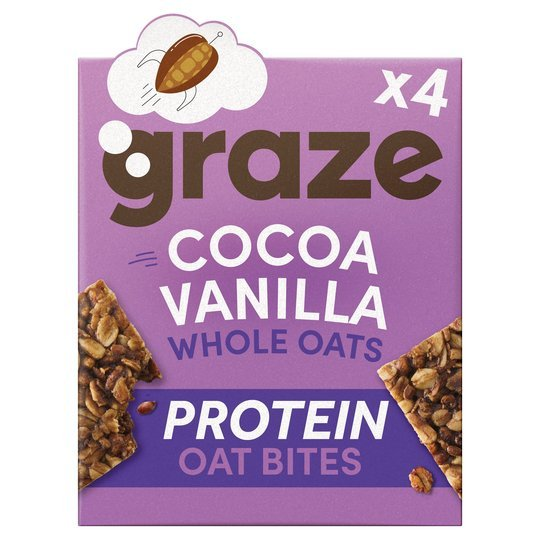Graze cocoa & vanilla bars are half price at Tesco