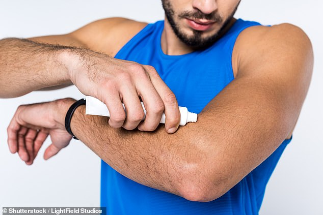 A new method of birth control for men is being tested by couples in the form of a contraceptive gel that is applied to a man's arm or shoulder (stock photo)