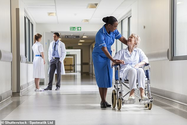 Six million people will be left waiting for crucial operations such as hip replacements and cataract surgery by 2024 because NHS hospitals cannot cope with rising demand, it was claimed last night [File photo]