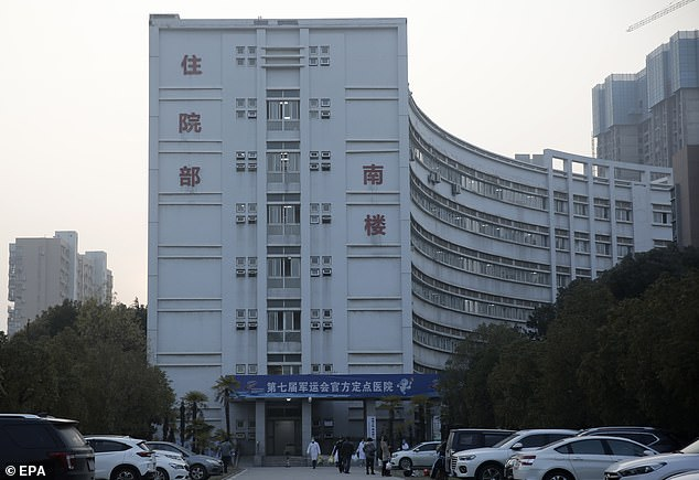 This picture taken on January 20 shows the exterior view of the south wing of the Wuhan Medical Treatment Center, also known as the Jinyintan hospital, where many patients infected with the virus are being treated. At least 448 people in China have been sickened by the virus