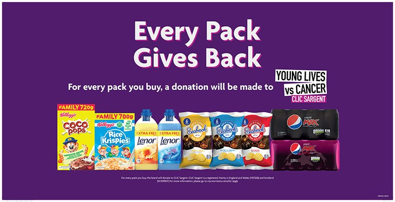 """Buy a pack from a participating """"Every Pack Gives Back"""" brand and the food company will donate cash to the charity on your behalf"""