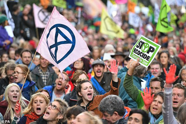 Climate change protests: Extinction Rebellion organised mass protests in London last year
